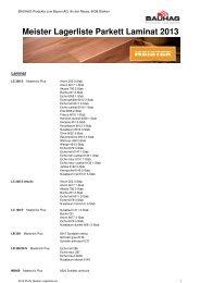 Meister Lagerliste Parkett Laminat 2013 - Bauhag