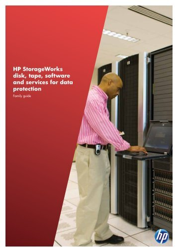 HP StorageWorks disk, tape, software and services for data - Lynx ...