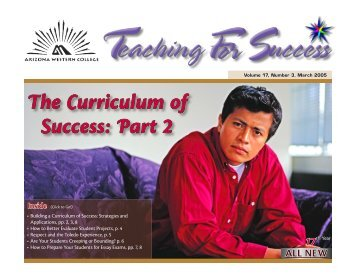 The Curriculum of Success: Part 2 - Arizona Western College