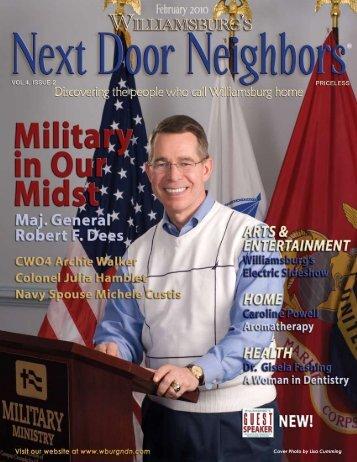 February - Williamsburg , VA Magazine , Next Door Neighbors