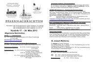 Kurzinfo 17. – 24. März 2013 - Heilig Kreuz