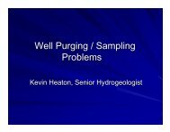 Well Purging / Sampling Problems