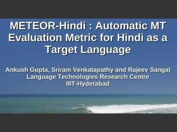Presentation - IIIT Hyderabad