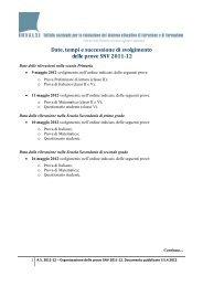 Date, tempi e successione di svolgimento delle prove SNV ... - Invalsi