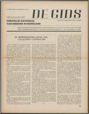 De Gids (1940) nr. 6 - Vakbeweging in de oorlog