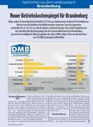 Neuer Betriebskostenspiegel für Brandenburg