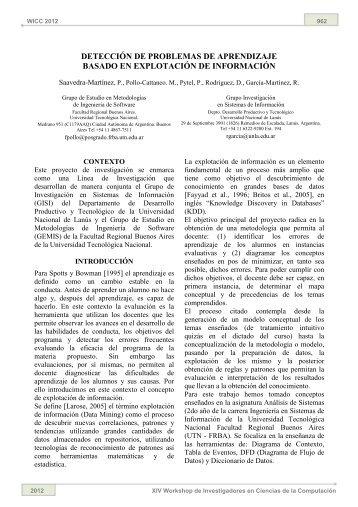 Detección de Problemas de Aprendizaje Basado en Explotación de ...