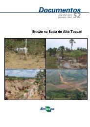 Erosão na Bacia do Alto Taquari - Embrapa Pantanal
