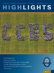 Highlights - Front Page - Christ Church Episcopal School