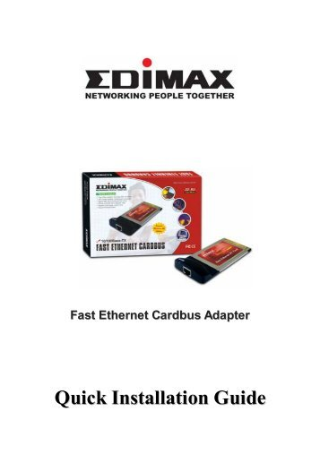 Guia de Instalación Rapida - Edimax