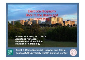 ECG-Back to the Basics and Can't Misses - Healthcare Professionals