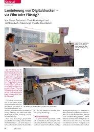 Laminieren von Digitaldrucken - Welte GmbH