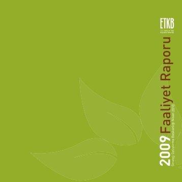 2009 Yılı Faaliyet Raporu - Enerji ve Tabii Kaynaklar Bakanlığı