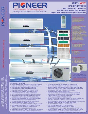 WAT / WYT - Parker Davis HVAC