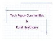 Tech Ready Communities & Rural Healthcare - San Luis Valley ...