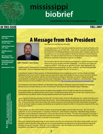 November 2007 - Mississippi Biomass and Renewable Energy ...