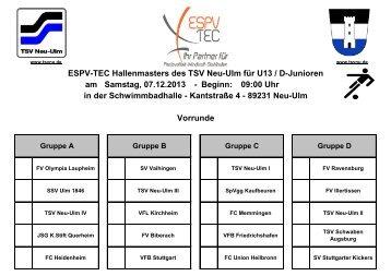 Gruppeneinteilung U13 - TSV 1880 Neu-Ulm