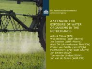 a scenario for exposure of water organisms in the netherlands