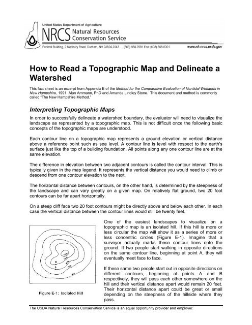 How To Read Topographic Map.How To Read A Topographic Map And Delineate A Watershed