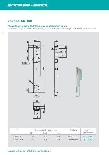 Baureihe: ES-100 - Endres + Seidl Energie GmbH