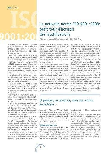 ISO 9001:200 - Société Suisse de Stérilisation Hospitalière
