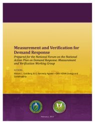 Measurement and Verification for Demand Response - Electricity ...