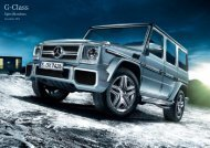 Download G-Class Specifications (PDF) - Mercedes-Benz