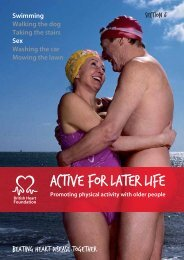 Active for later life - BHF National Centre - physical activity + health