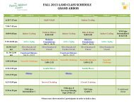 fall 2013 land class schedule grand arbor - Knute Nelson