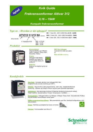 Altivar 312 user manual pdf   Controlling and Programming ATV312 in