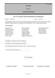Protokoll zur Sitzung am 19.11.2010 - Ligist