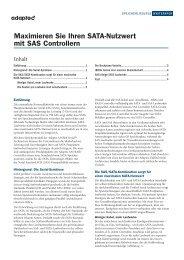 Maximieren Sie Ihren SATA-Nutzwert mit SAS Controllern