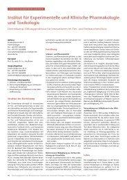 Forschungsbericht 2007-2008 deutsch - Institut für Pharmakologie ...