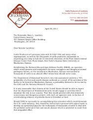 Cattle Producers of Louisiana's Letter to Senator Mary ... - R-Calf