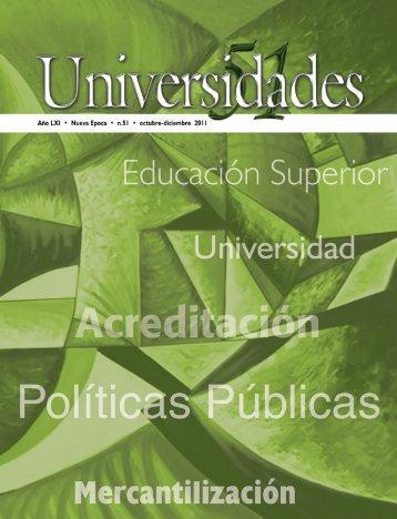 Revista Universidades Número 51, Octubre - Diciembre de ... - udual
