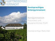 Passworts - Kantonsschule Küsnacht