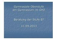 Beratung EF - Gymnasium im GHZ
