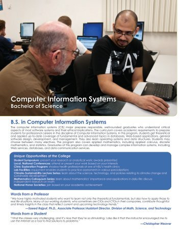 Computer Information Systems - College of Arts and Sciences ...
