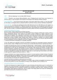 Effectif : 24 participants AU PAYS DES GAULOIS De ... - Léo Lagrange
