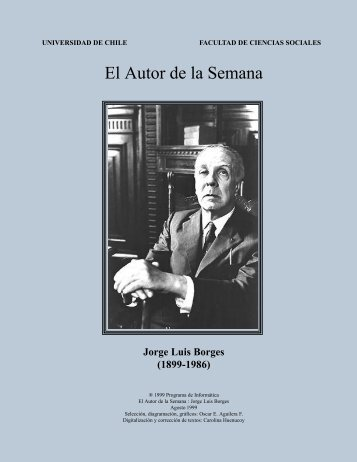 El Autor de la Semana: Jorge Luis Borges - Pagina de Poesia