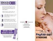 SHAKEN BABY SYNDROME SHAKEN - The Health Plan