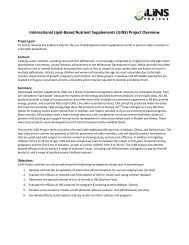 International Lipid-Based Nutrient Supplements ... - The iLiNS Project