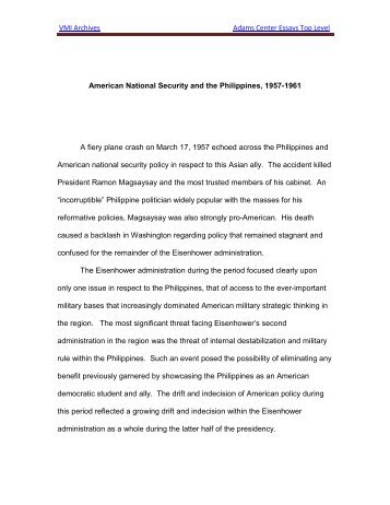 jinwung kim paper adams center essay contest virginia military  vmi adams center essay contest william vandergiesen essay