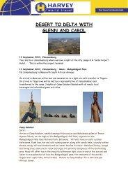 DESERT TO DELTA WITH GLENN AND CAROL