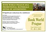 Offer of Advertising - Svět knihy 2012