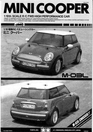 Page 1 Page 2 MINI cooPER 9517-7 FRNWOGT- I .7Bm Tamiya ...