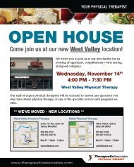 Come join us at our new West Valley location! - Therapeutic ...