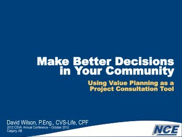 Make Better Decisions in Your Community