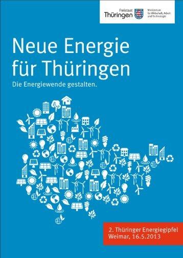 Positionspapier der Landesregierung zum 2. Thüringer Energiegipfel