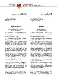 Nr. 15/08 Bozen, den 20. November 2008 An die Frau Präsidentin ...